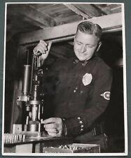 Pasadena California Police Officer Loading Ammunition vintage 8x10 photo