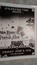 New Riders of Purple Sage 1978 concert poster Tulsa OK ORIGINAL MINT