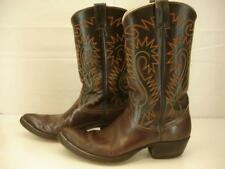 Vtg Nocona USA Made Mens sz 12 A N Legacy Boots Cowboy Western Brown Leather