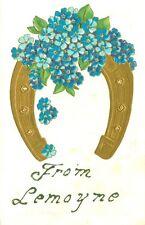 Lemoyne, PA  Embossed Floral Good Luck Horse Shoe Greetings from Lemoyne