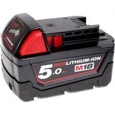 Batería para Milwaukee Modelo M18 B5 Original 18V 5000mAh/90Wh Li-Ion Negro