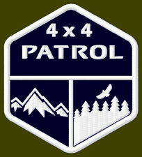 "4 x 4 PATROL EMBROIDERED PATCH ~3-1/2"" x 3"" NISSAN OFF ROAD TUNING RACING SUV #3"
