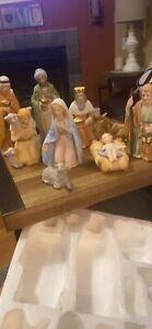 Vintage HOMCO 9-pc Full Nativity Set (5599)