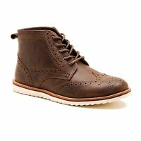 Mens Red Tape Horwood Brown Leather Casual Brogue Chukka Boots Free SHIPPING