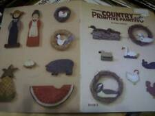 Country Primitive Painting Craft Booklet #8-Wellman-Whale/Roosters/Farmer & Mrs/