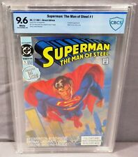 SUPERMAN: THE MAN OF STEEL #1 (White Pages) CBCS 9.6 NM+ DC Comics 1991 cgc