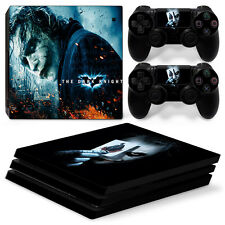 Sony PS4 Pro Console and Controller Skins / Decal -- Batman Joker Card (P-067)