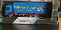 1:80 Scale Cararama Mercedes Benz Actros Boxvan Truck Knights of Old