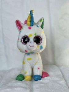 """Ty Beanie Boos Harmonie Multicolor The Unicorn 6"""""""