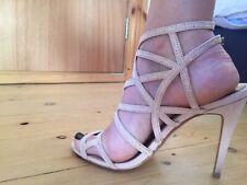Dorothy Perkins Baby Pink Suede Diamonte Sparkly High Heels Stilettos S 6