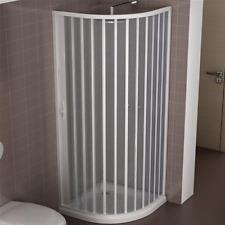 Box doccia Giove 80x80 cm semicircolare apertura a soffietto laterale