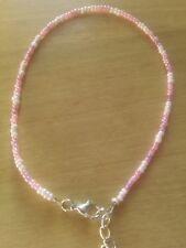 Pinks bead anklet/ankle bracelet summer beach funky