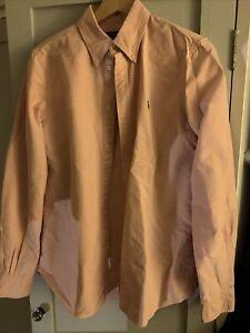 Ladies Ralph Lauren Polo Shirt Pink M 10-12