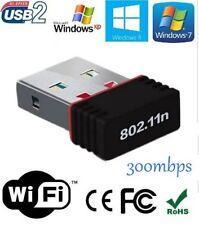 Mini Wireless Wi-Fi Nano USB WiFi Adapter Dongle 2.4GHz 300mbps 802.11N