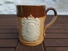 More details for doulton salt glaze 1911 royal coronation mug, from sir robert edgcumbe cornwall