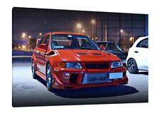 Mitsubishi Lancer EVO VI - 30x20 Inch Canvas - Framed Picture Tommi Makinen 6