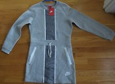 NWT NIKE WOMENS SWEATSHIRT DRESS  Gray size SMALL