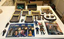 Star trek lot: Playmates bridge playset Moc Kim custom alien, Galoob Riker Moc