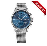 NEW Hugo Boss Gent's Jet 1513441 Stainless Steel Mesh Strap Chronograph Watch