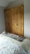 SOLID WOOD RUSTIC PLANK WOODEN STORAGE WARDROBE SHELVING MADE TO MEASURE