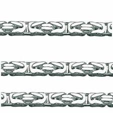 Königskette massiv Männer Länge 60 cm Breite 3,2 mm Echt Silber 925 Karabiner