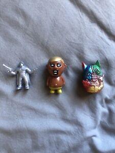 Lot of (3) Mini Keshi Sofubi Sucklord Punk Drunker & Death Cat Toys Designer Toy