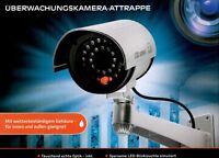 Kamera Dummy LED-Uberwachungskamera Attrappe Alarmanlage wetterfest IP44