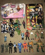 Lot Of Action Figures X-men TMNT Powerpuff  Girls Biker Mice Star Trek Batman +