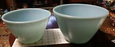 Vintage baby blue pyrex mixing bowls