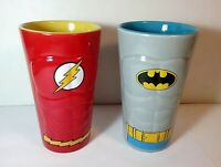 Batman & The Flash DC Comics sculpted tall mugs ( 2 )