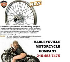 Paughco 40 Spoke 16 x 3 Chrome Front Wheel Harley Softail Dyna 1984-99  225-S40F