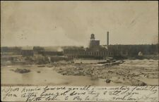 Howland ME Paper Mill c1910 Real Photo Postcard