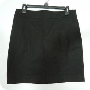 ANN TAYLOR Women's Madison Skirt, Black Mini A-Line Cotton/Spandex Work / Casual