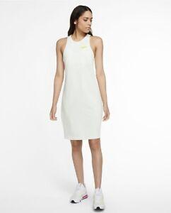 Nike Sportswear Women's Cruise Logo Dress DC2797-121 Sz S Summit White Tennis NW