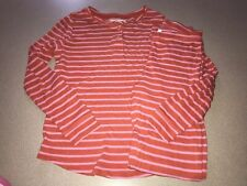 Crewcuts Pj Set Orange Pink Stripe 12