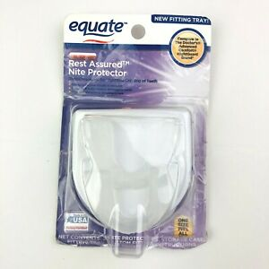 Equate Rest Assured Nite Protector 2 Pieces Storage Case Nightime Teeth Grinding
