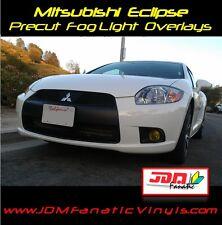 09-12 Eclipse Fog Light Yellow Overlays TINT Film Vinyl Rally EDM JDM 4g Precut