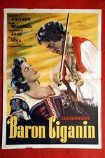GYPSY BARON MARGIT SAAD 1954 GEORGES GUETARY UNIQUE EXYU MOVIE POSTER