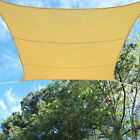 Outdoor Sun Sail Shade Canopy Sand Beige Waterproof Polyester 12' Foot Square