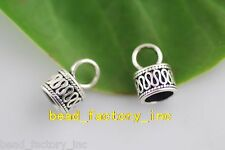 20Pcs Tibet Silver Loose Bead End Cap Stopper 11x12mm Fit 7mm Leatehr Cord