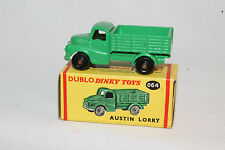 DINKY DUBLO TOYS #064 AUSTIN LORRY, GREEN, SCARCE BLACK WHEELS, EXCELLENT, BOXED