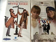 Mary Kate Ashley Olson 2 VHS Winning London & It Takes Two