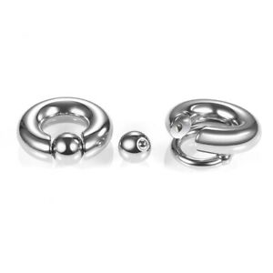 Surgical Steel Captive Bead Ring Cartilage Ear Piercing Tragus Lip Hoop Nose