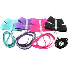 Rhinestone Pet Dog Harness&Leash SET Puppy Cat Soft Suede Leather Walking Vest