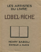 BOISSY - LOBEL RICHE : LES ARTISTES DU LIVRE 1930
