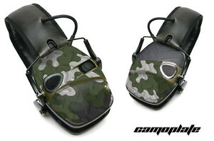 Sticker Wrap Decal  Fits: Howard Leight Impact Noise Ear Shooting Muffs CAMO