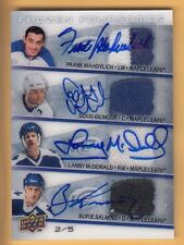 08/09 UD ICE FROZEN FOURSOMES MAHOVLICH-GILMOUR-McDONALD- SALMING JERSEY AUTO /5