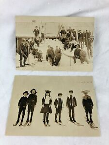 VINTAGE LOOK - REPRODUCTION OF 2 DIFFERENT POSTCARDS - PHOTOGRAPHS