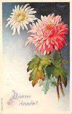 BG3795 bonne  annee flower new year  france  greetings