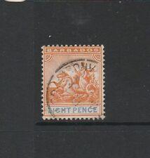 Barbados 1892/1903 Crown CA 8d FU SG 112